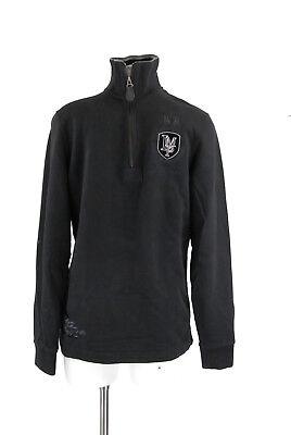 La Martina Black Sweatshirt  XS Herren schwarz Troyer Pullover 100% Baumwolle gebraucht kaufen  Landsberg