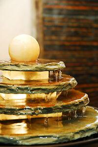 Zimmerbrunnen Tao | Feng Shui Schieferbrunnen inkl. dreh. Kugel und Beleuchtung