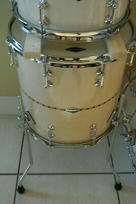 "2011 SIGNED JOHNNY CRAVIOTTO SOLID MAPLE DRUM SET 18"" 12"" 14"" + MATCHING SNARE!"