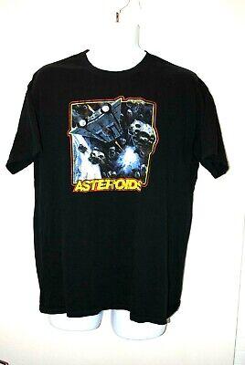 Atari Asteroids retro gaming T Shirt vintage Mens Black Sz Large
