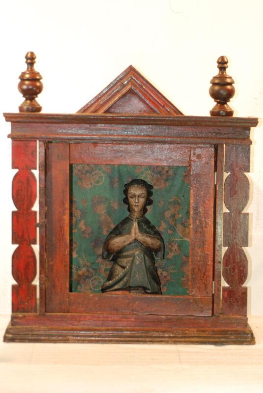 NICHE VIRGIN MARY PRAYER  SHRINE =  MID CENTURY = ONE OF A KIND