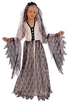 Girls Kids Childs Copse Ghost Zombie Bride Halloween Fancy Dress Costume - Child Bride Kostüm Halloween