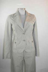 Esprit Blazer 32 Jacke beige grau gestreift Sakko ...