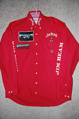 PBR Bull Riding Contestant Shirt Pro Rodeo PRCA Wrangler NFR CINCH SIZE MEDIUM