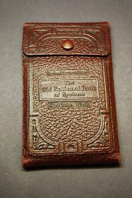 Vintage OLD NATIONAL BANK of SPOKANE Checking / Deposit Slip -