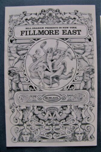 Oct. 1969 ~ Fillmore East (NYC)  Program ~ Spirit - Kinks - Bonzo Dog Band  MINT