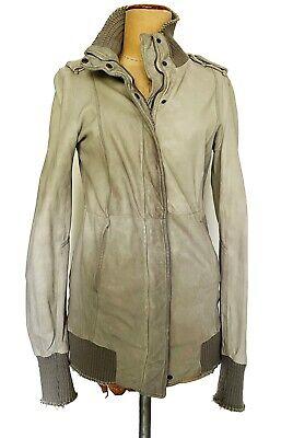 GIORGIO BRATO, Distressed grey leather jacket, Size IT42
