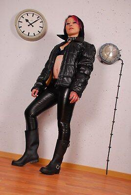 Gummistiefel Biker Jeffrey Campbell Gr.38,schwarz GoGo gothic WGT punk Designer
