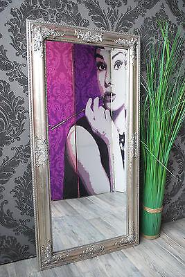 Spiegel Wandspiegel RACHEL antik silber Barock 100 x 50 cm  Spiegel