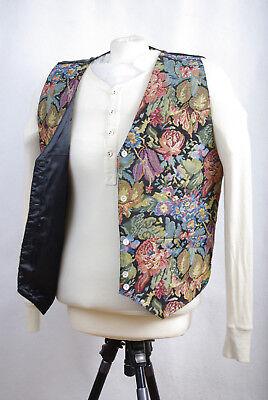 "P246/01 Classic Separates Elegant Silk Blend Floral Waistcoat, size L (40"")"