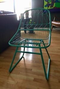 Mid Century Style - Turquoise Blue Metal Chair