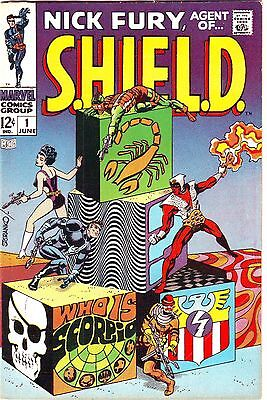 NICK FURY,AGENT OF S.H.I.E.L.D.#1 VF/NMINT (Marvel 1968) STERANKO ART KEY SHIELD