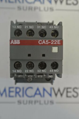 ABB A9 Contactor w/ CA5-22E Auxiliary Contact Block 220-230V 50Hz 230-240V 60Hz