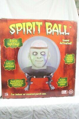 Halloween Gemmy Spirit Ball Frankenstein Green Brain Monster In Box 2005