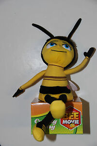 Bee Movie BUZZING BARRY B. BENSON THE BEE Plush Stuffed Animal - Yellow