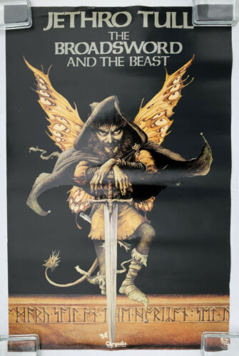 JETHRO TULL The Broadsword And The Beast 1982 US PROMO POSTER Ian ANDERSON
