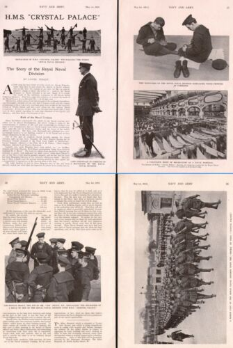 1915 WWI ~ HMS CRYSTAL PALACE NAVAL DIVISION SIGNALLERS LORD TREDEGAR Lt HEALY