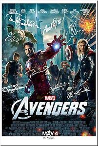 THE AVENGERS CAST SIGNED PHOTO AUTOGRAPH POSTER GIFT MOVIE FILM