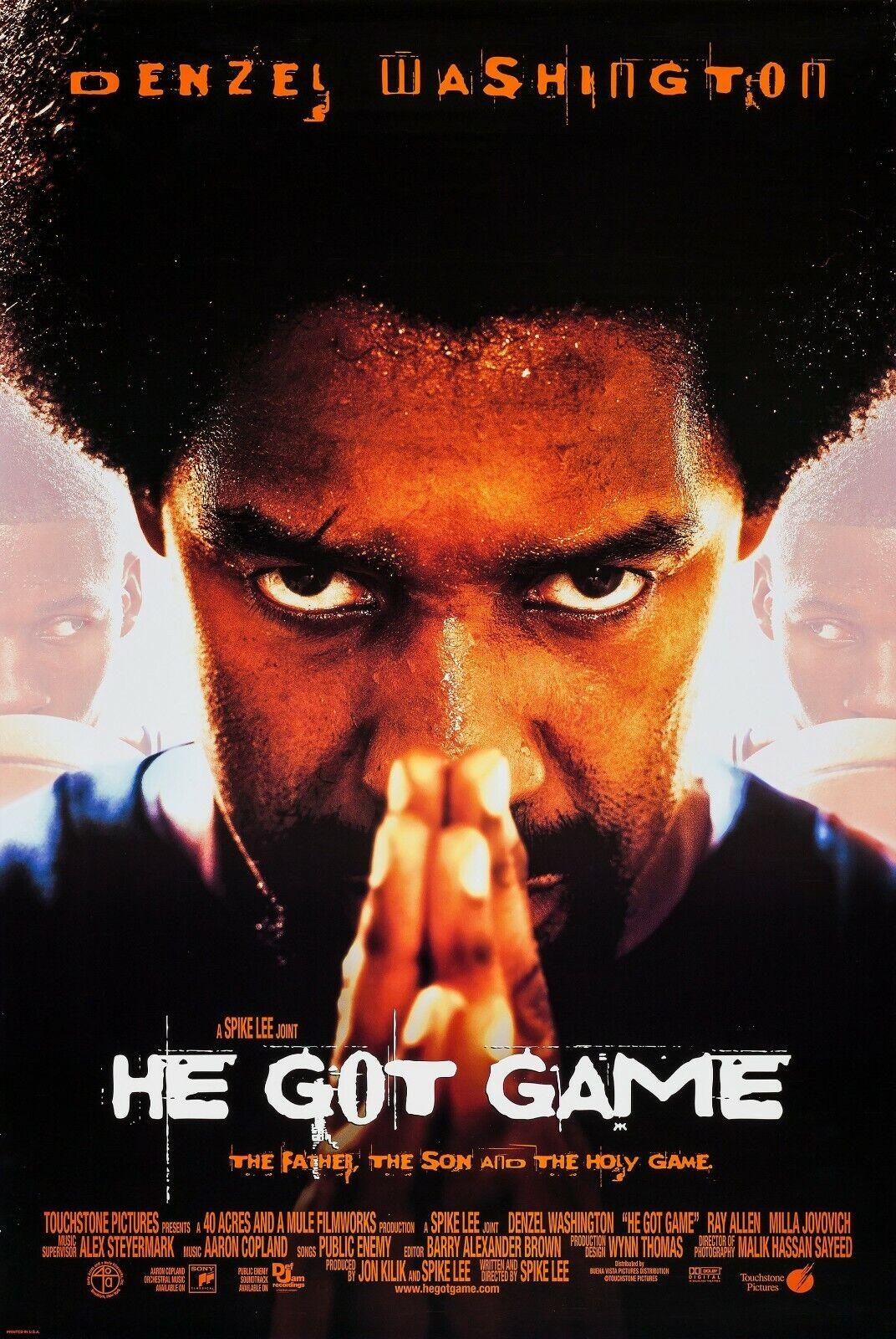 "He Got Game movie poster  - 11"" x 17"" - Denzel Washington, Spike Lee"