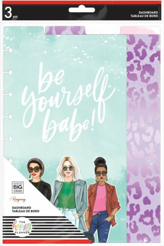 The Happy Planner Classic DASHBOARDS - Rongrong BE YOURSELF - 3 pcs