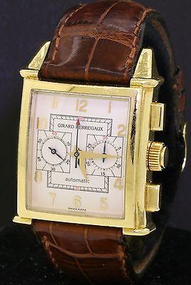 Girard Perregaux 2599 vintage 18K gold automatic chronograph men's watch