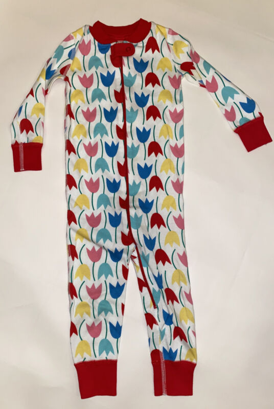 Hanna Andersson Zip Up One Piece Tulip Pajamas 80 cm 18-24 Months