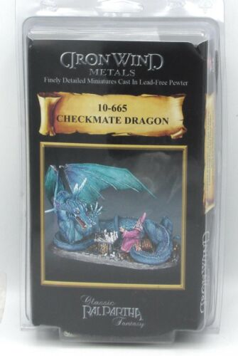 Ral Partha 10-665 Checkmate Dragon (Vignettes) Wizard & Drake Playing Chess NIB