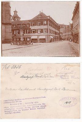 Ansbach, Unterer Markt  mit Brunnen Gross Foto Original (12,3 x 17,6 cm) 1915
