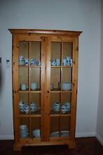 Pine Wood display cabinet book case glass doors Waterways Kingston Area Preview