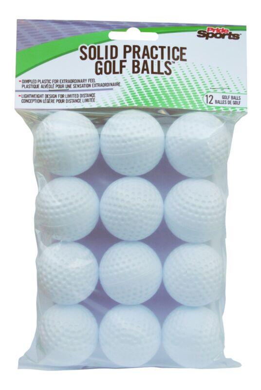 PrideSports Practice Golf Balls, Hollow, 12 Count PAPB6012
