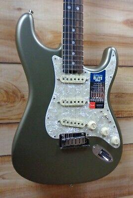 Fender® American Elite Stratocaster® Ebony Fretboard Satin Jade Pearl Metallic