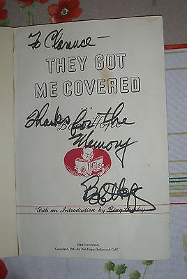 "BOB HOPE - ""THEY GOT ME COVERED"" - SECRETARIAL SIGNATURE -- JAN MORRILL LETTER"