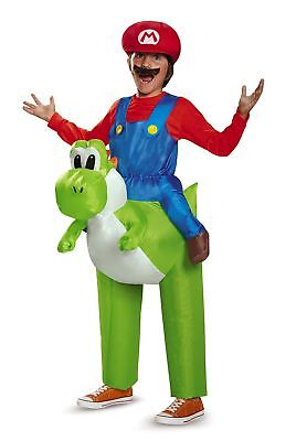 Super Mario Bros: Ride a Yoshi Inflatable Child Costume Multi One Size Child (Yoshi Halloween Costume Child)