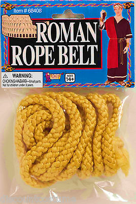 Ancient Rome Costumes (YELLOW ROMAN ROPE BELT ANCIENT ROME TUNIC BELT UNISEX ADULT COSTUME)