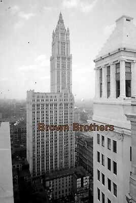 1920s NYC Woolworth Building Tallest in World 8x10 Glass Camera Negative #7 - BB