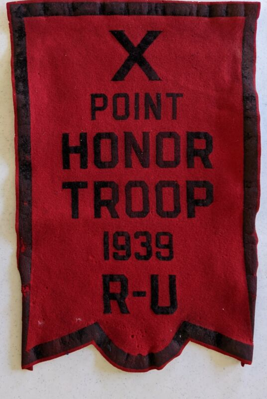 1939 10 Point Honor Troop Round Up Felt Award Vintage Boy Scouts of America BSA