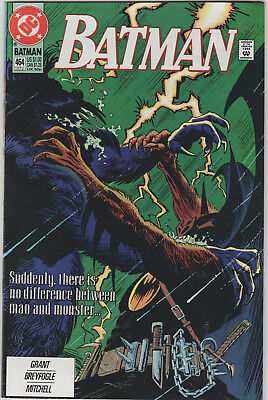 Batman #464 DC Comic 1991 Black Wolf Dog Alan Grant Norm Breyfogle