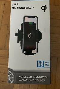 Wireless Car Charger Mount and Air Vent Phone Holder
