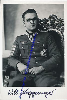 Wilhelm Niggemeyer signed photo.Oakleaves winner.