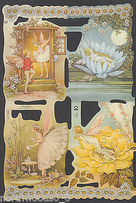 Woodland Faries (FARIES NATURE BUTTERFLIES WINGS FLORAL WOODLAND  SCRAP ENGLAND EMBOSSED PAPER)