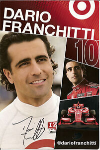 2013-DARIO-FRANCHITTI-signed-INDIANAPOLIS-500-PHOTO-CARD-POSTCARD-INDY-CAR-HONDA