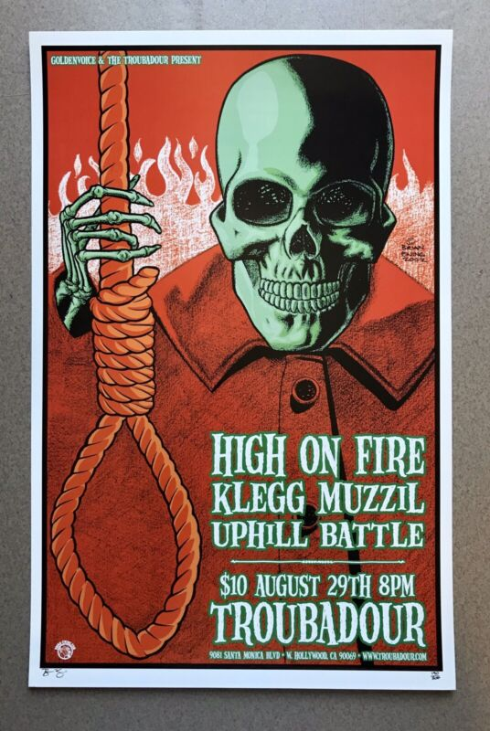 High On Fire Concert Poster Brian Ewing 2002 Artist Proof Signed Sleep Matt Pike