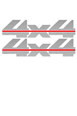 1988 - 1997 4x4 Decals for Chevy Silverado GMC Sierra 1500 2500-Vinylmark SILVER
