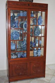 Rosewood & Glass Display Cabinet