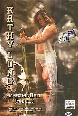 Kathy Long Signed 11x17 Magazine Centerfold Poster PSA/DNA COA UFC 1 Autograph for sale  San Diego