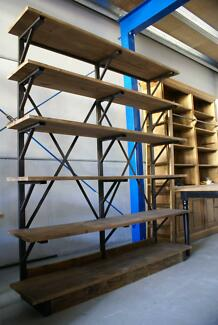 NEW INDUSTRIAL RECYCLED VINTAGE RUSTIC BOOKCASE SHELF DISPLAY Chipping Norton Liverpool Area Preview
