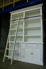 NEW FRENCH PROVINCIAL LIBRARY BOOKCASE SHELF CABINET & LADDER Chipping Norton Liverpool Area Preview