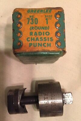 Greenlee 730 1 Diameter Radio Chassis Knockout Punch