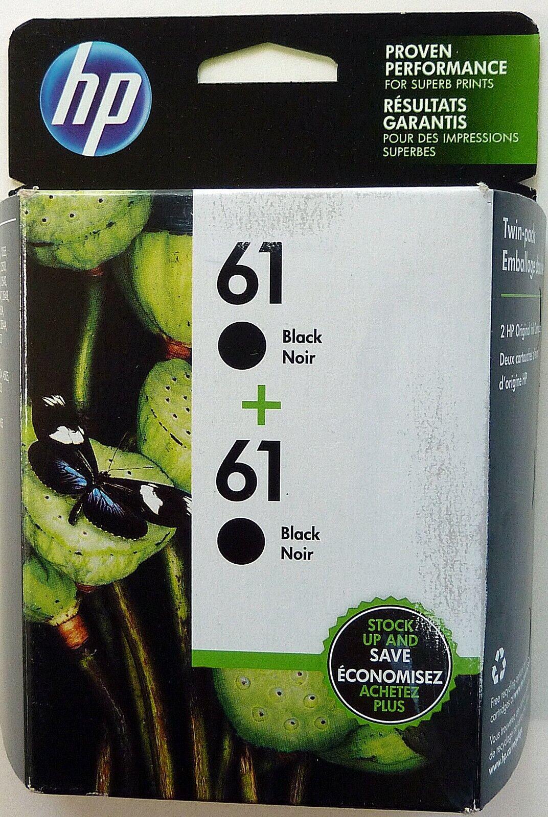 HP 61 2-Pack Black Original Ink Cartridges - New In Box - Exp. 11-2020 - $23.95