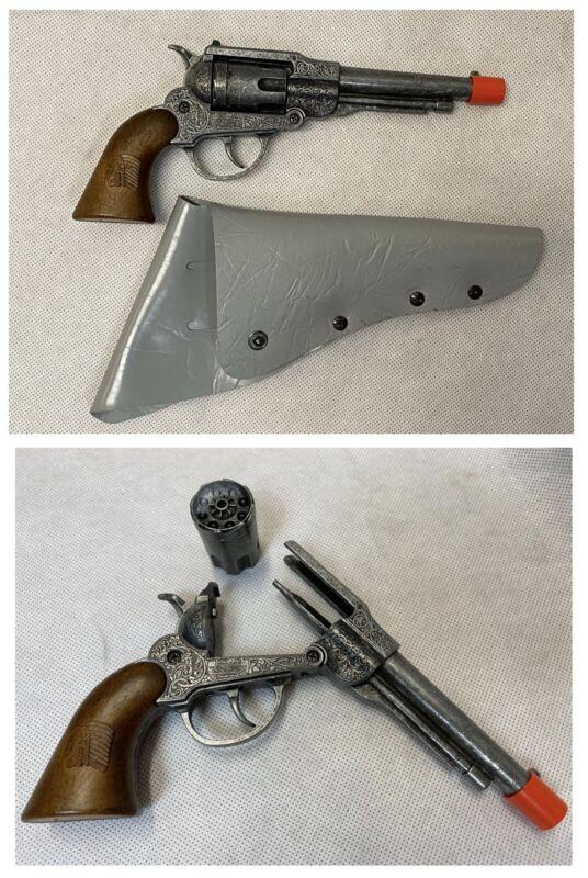 Vintage Edison Giocattoli Cowboy Revolver CAP GUN Toy Made in Italy